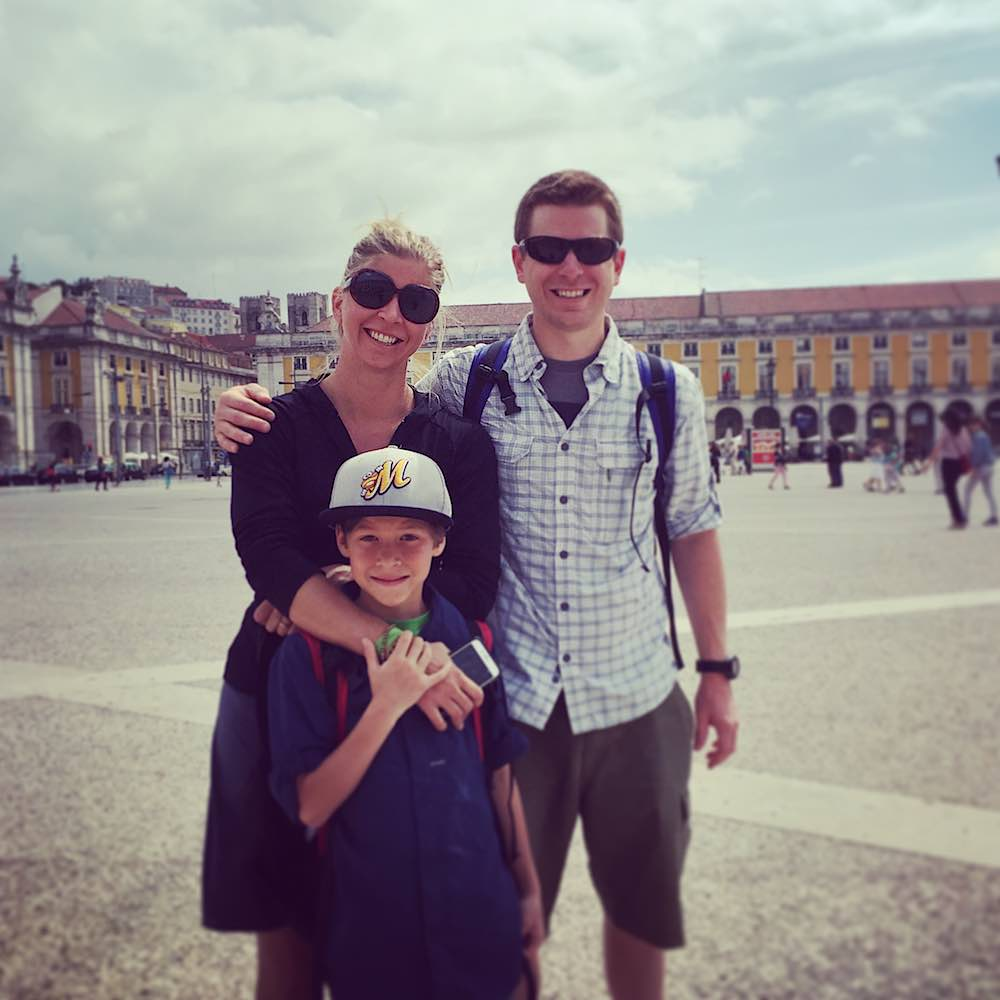 Rory Moulton with family in Lisbon Portugal