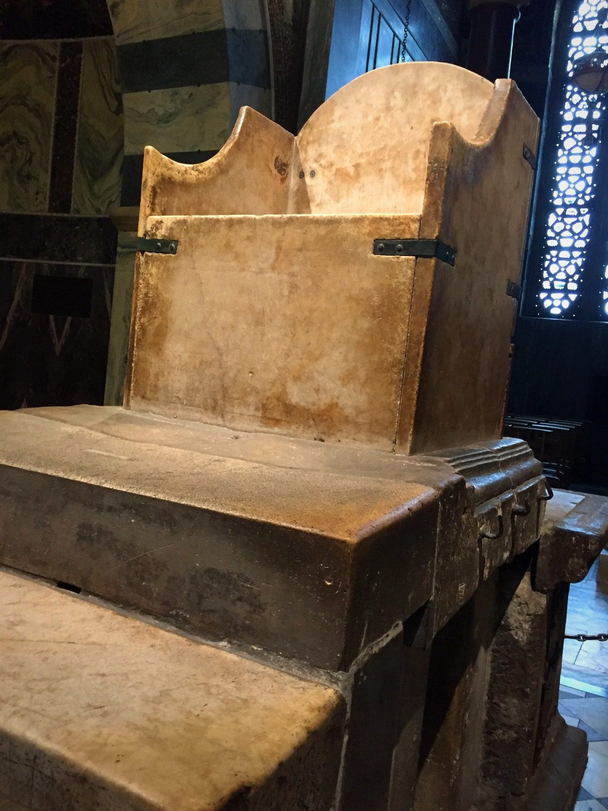 2018 European travel review: Charlemagne's throne in Aachen Cathedral.