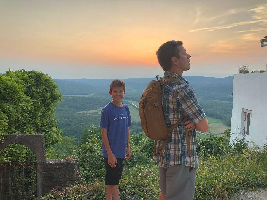 2018 European travel review: Sunset in Motovun