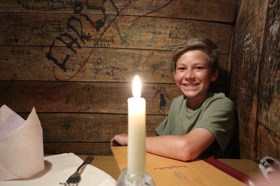 2018 European travel review: Torgglkeller wine-barrel dining table