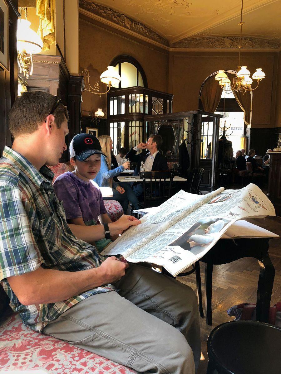 2018 European travel review: Cafe Sperl in Vienna.