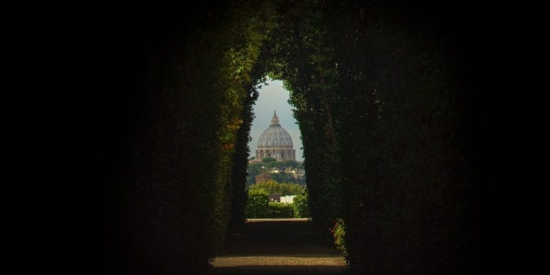 Aventine Hill keyhole in Rome