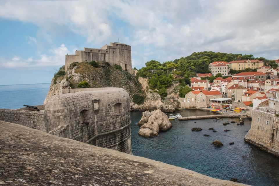 Game of Thrones filming locations in Europe: Lovrijenac Castle
